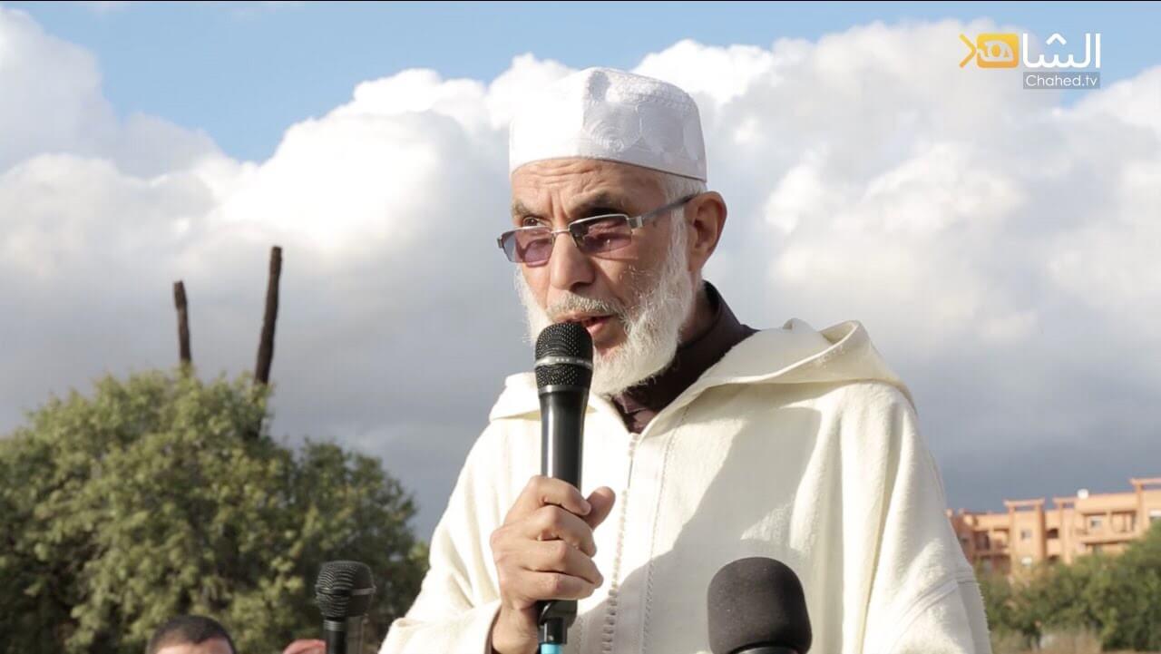 الأستاذ عبادي في تشييع الحاج علي سقراط
