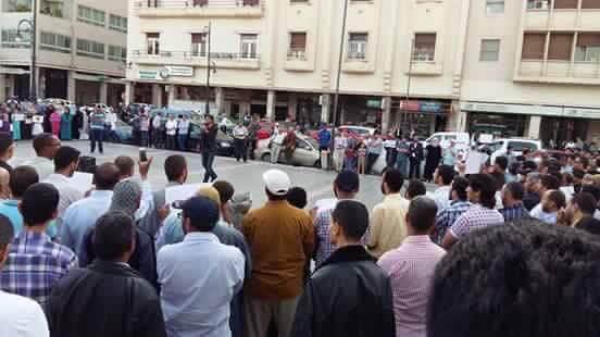 روبورتاج : وقفة بمدينة وجدة  للاحتجاج على تشميع البيوت